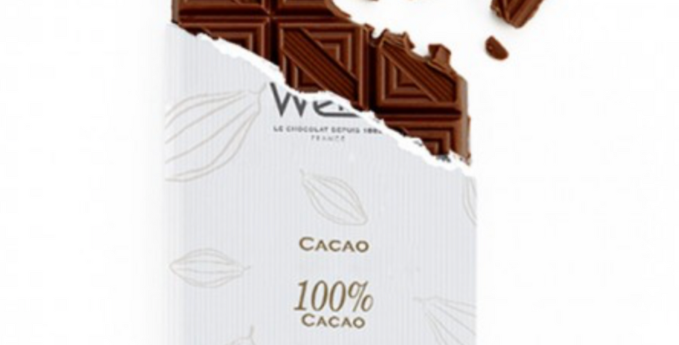 WEISS CHOCOLATE CACAO BAR 100% 100G