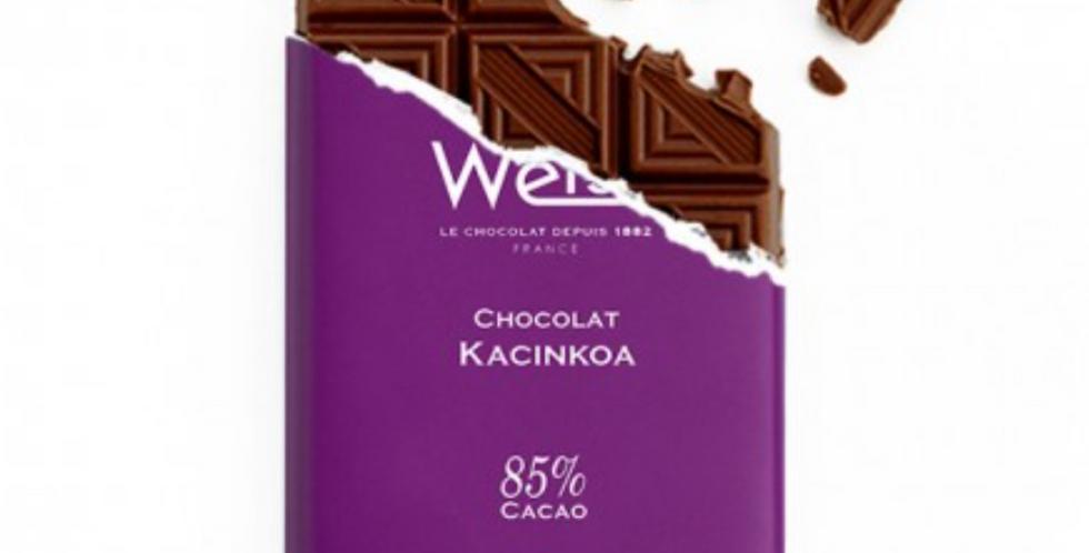 WEISS CHOCOLATE KACINKOA BAR 85% 100G