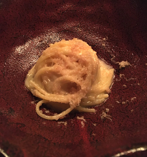 Spaghetti alla tsukemen (prosciutto e fichi)