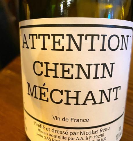 Il vino (Chenin in purezza dalla Clos des Treilles a Sainte–Radegonde-des-Pommiers, zona Valle della Loira)