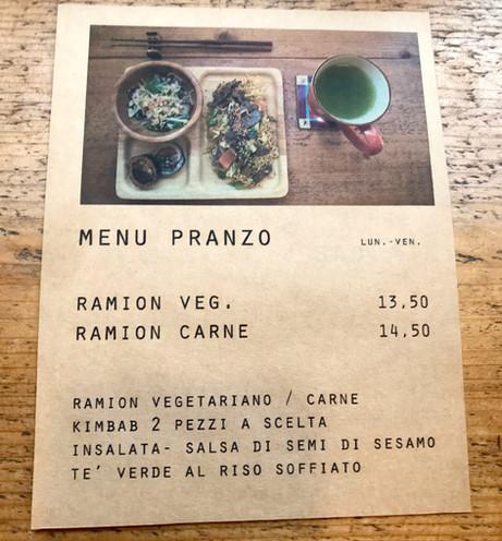 Il menu del pranzo 1/2