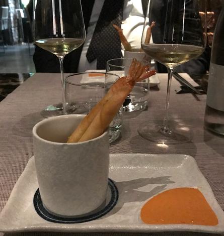 Samurai Stick - Gamberi con edamame avvolti in pasta croccante e salsa piccante