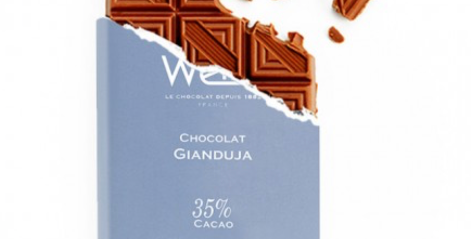 WEISS CHOCOLATE GIANDUJA BAR 100G