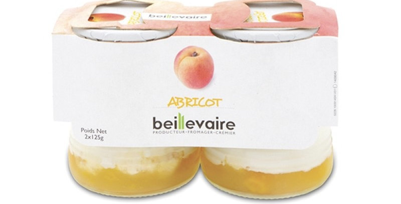 Apricot Yogurt 125g x 8 glass