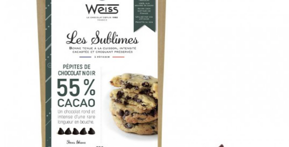 WEISS PASTRY CHOCOLATE CHIPS FONDANT 55% 250G