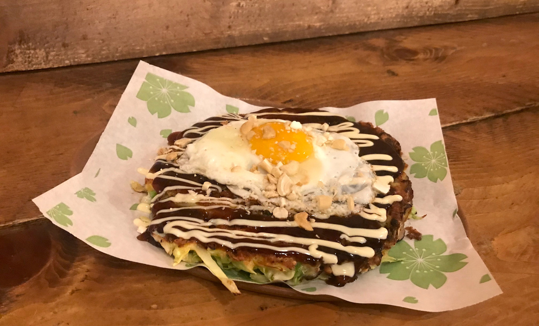 Veg Okonomiyaki + Uovo