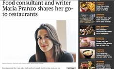 Article about Maria Pranzo - South China Morning Post