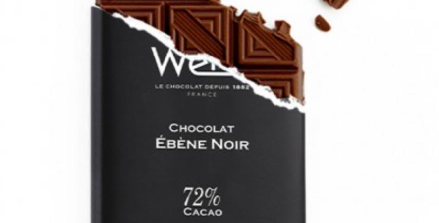 WEISS CHOCOLATE EBENE BAR 72% 100G