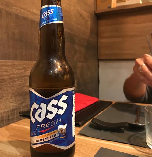 Cass Korean beer
