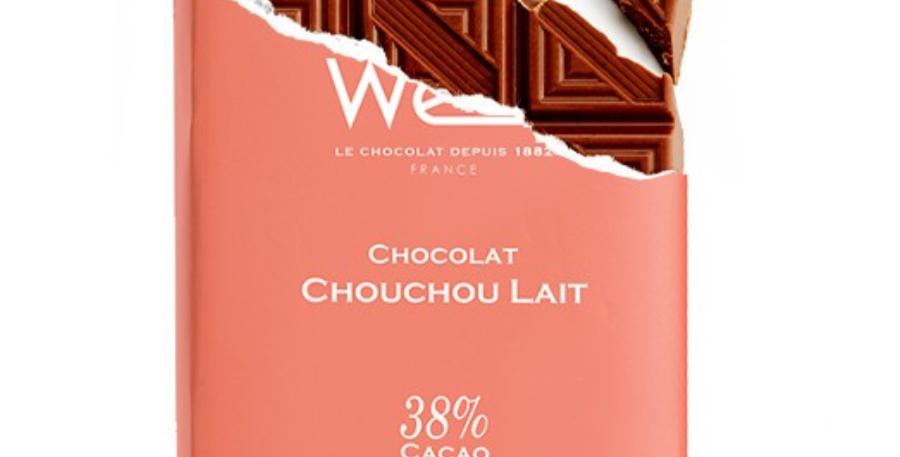 WEISS CHOCOLATE CHOUCHOU MILK 38% BAR 100G