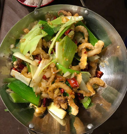 Scodella di calamari con verdure