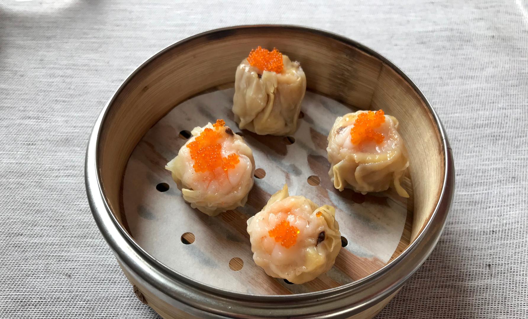 Shao Mai con Gamberi, Pollo e Funghi Shitake