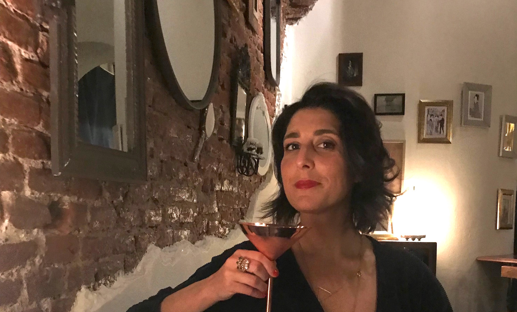 Maria con un HANAMI cocktail!