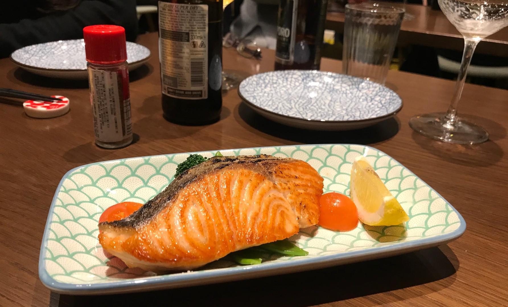 Salmone grigliato al sale