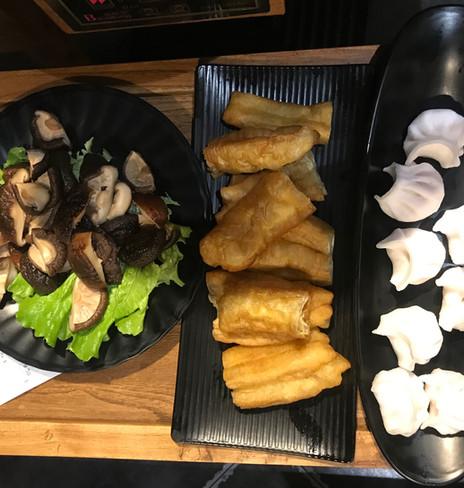 Funghi e tofu fritto
