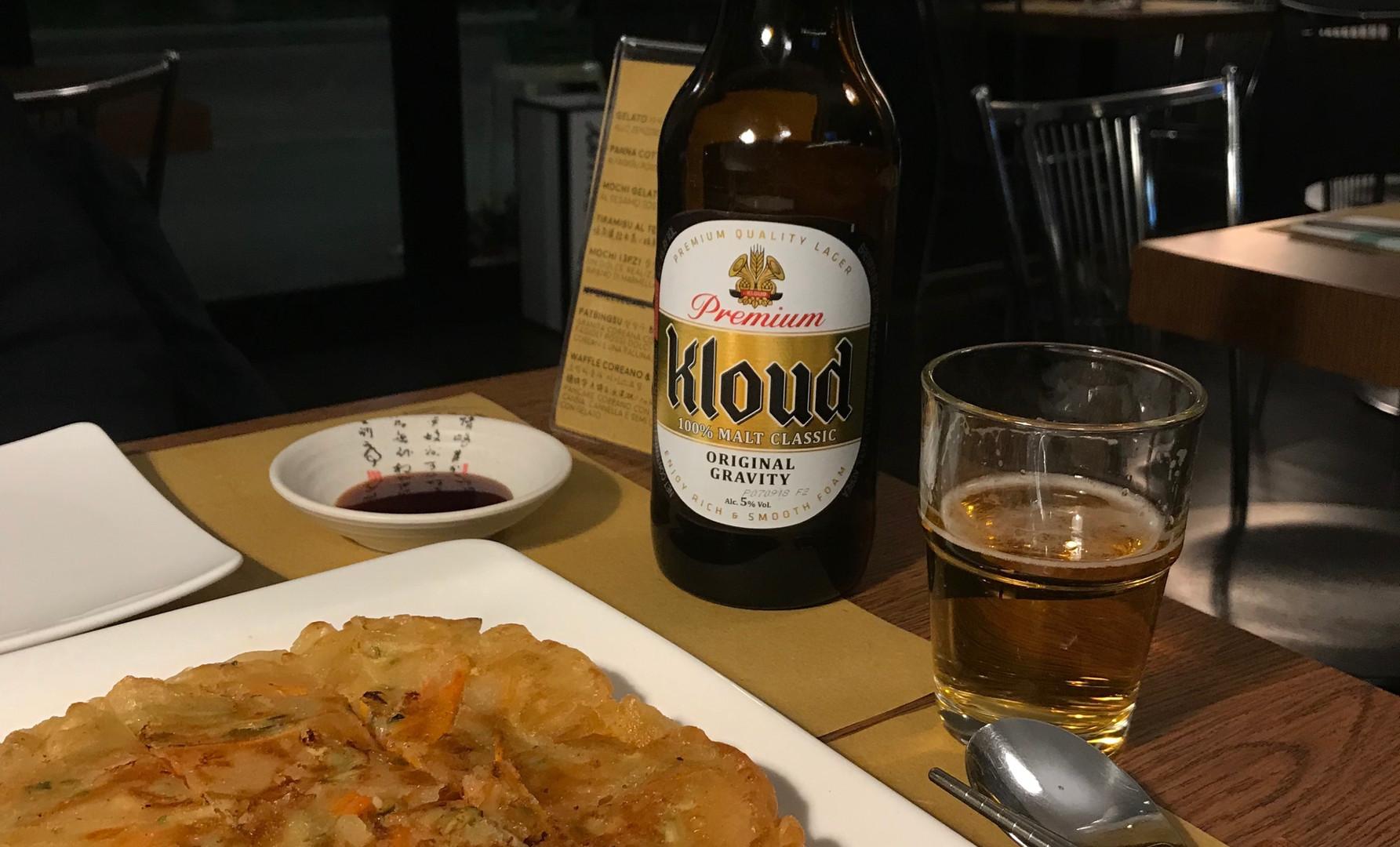 Birra coreana e Jeon