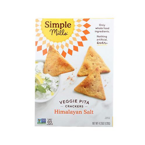 Simple Mills Veggie Pita Cracker Himalayan Salt