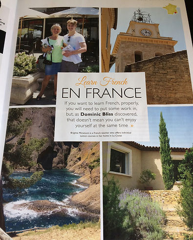 French Today magazine about Live and Learn en Provenc