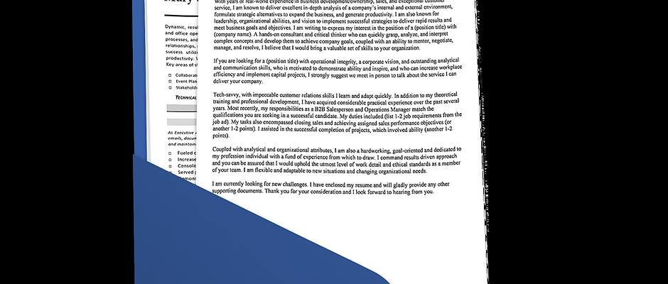 Strategic Cover Letter