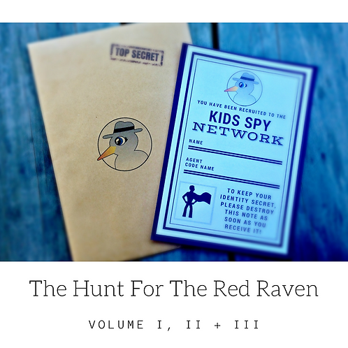 Red Raven Vol I, II + III - Download To Print (For up to 3 children)