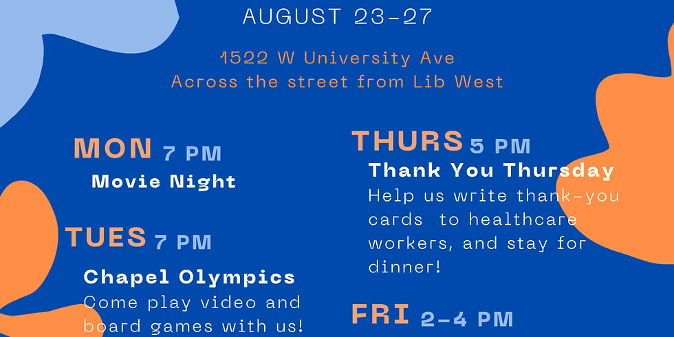 Welcome Week at the Chapel