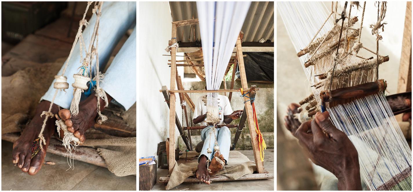 Zumana Weaving on Horizontal Strip Loom