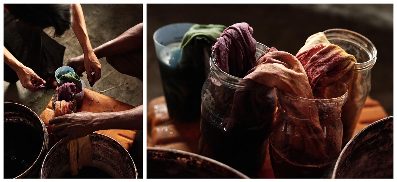 Grand Bassam tie dye diptych