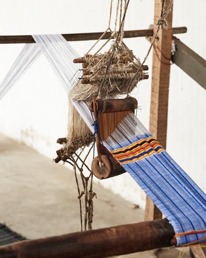 Horizontal loom detail, Grand-Bassam