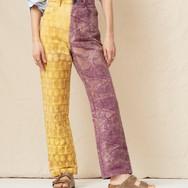 Mara Hoffman Fontana pants in marigold and logwood wax batik