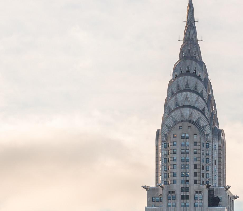 The Chrysler Building spire, New York.