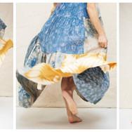 Sarah Nsikak (La Réunion), patchworked dress