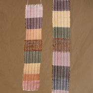 Strip weave with plant dyed yarn by Zumana