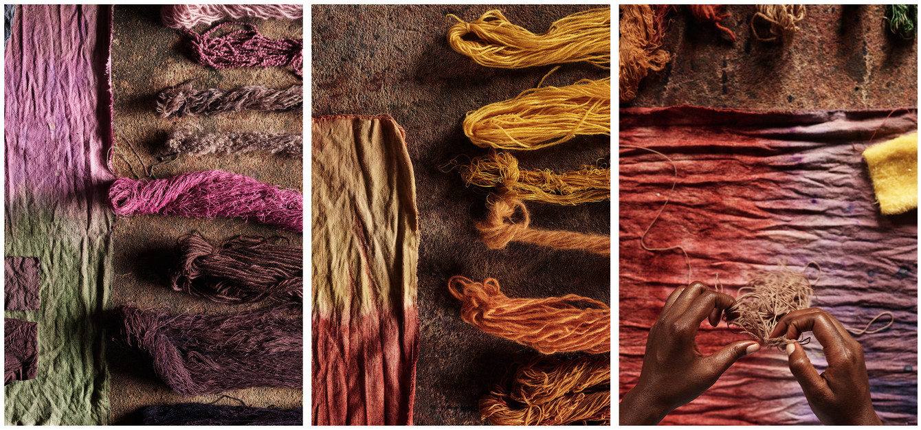 Naturally dyed yarns and fabric