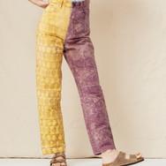 Mara Hoffman, Fontana pants in marigold and logwood wax batik