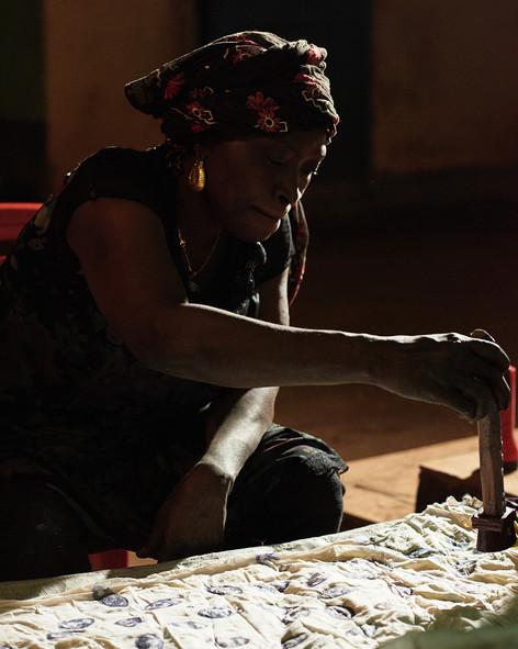 Fatou - adire eleko wax resist batik