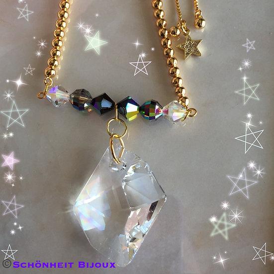 スワロフスキークリスタルコズミックネックレス/Swarovski Cosmic Pendant Necklace (Gold)