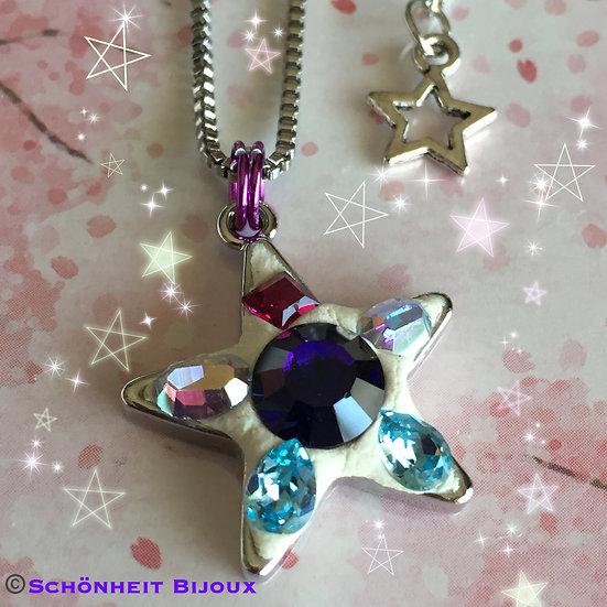スワロフスキークリスタル星ネックレス/Swarovski Star Necklace
