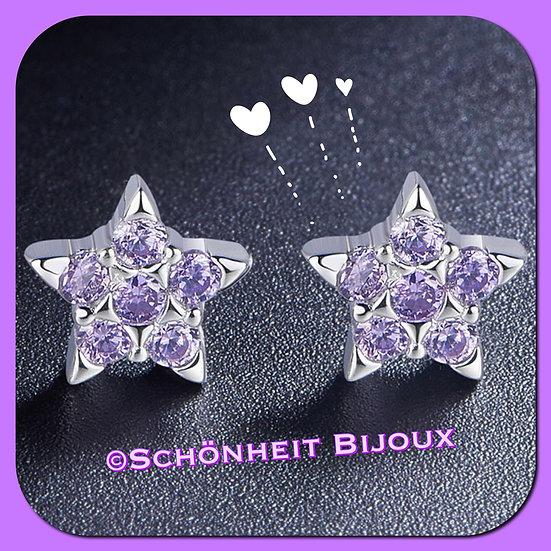 紫星ピアス/Purple Star Stud Earrings