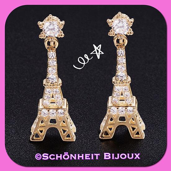 エッフェル塔ピアス/Eiffel Tower Earrings