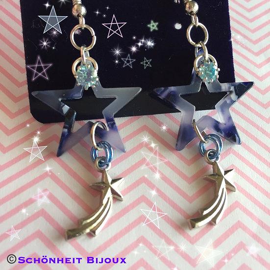 流れ星ピアス/Shooting Star Earrings (Silver)