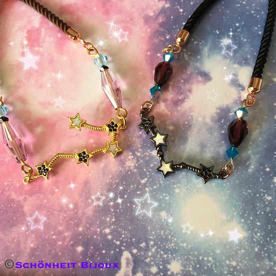 星座チャームとスワロフスキークリスタルブレスレット/Gorgeous Swarovski Crystal Bracelets Opal Star Charm