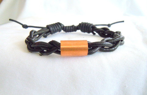 Black Braid with Copper Pipe. MB 104