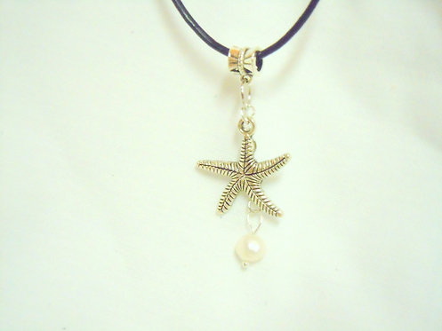 Silver Starfish Necklace NSSF 104