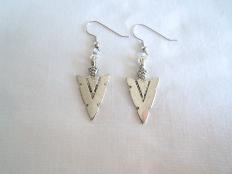 Silver Arrowhead Earrings ER 117