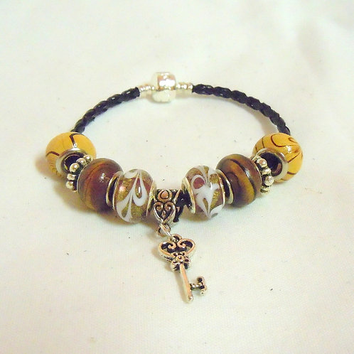 Brown and Golden Beaded Bracelet PB 103