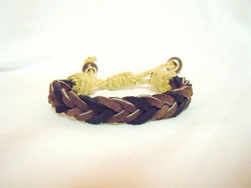 Black and Brown Braided Suede Bracelet BRBB 101
