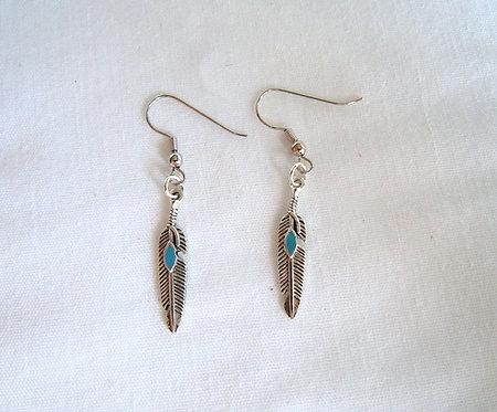 Silver Feather Earrings ER 111