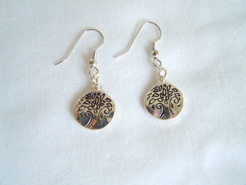 Small Silver Tree of Life Earrings ER 109