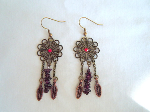 Bronze Dream Catcher Earrings ER 116