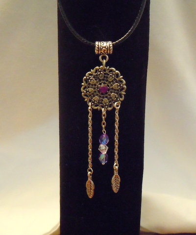 Dream Catcher with Purple Stone NK 134
